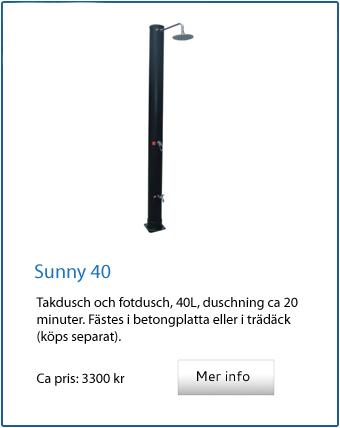 Sunny 40 utomhusdusch