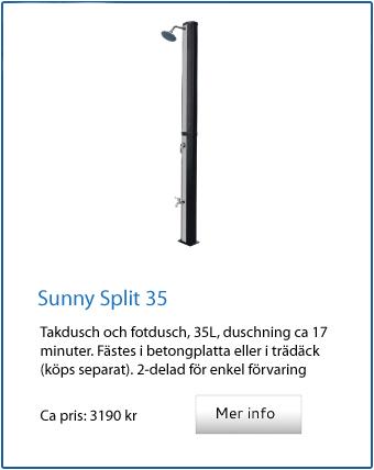 Sunny split 35 utedusch